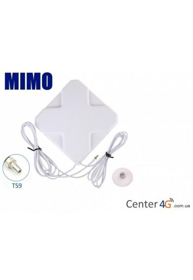 Купить 3G 4G MIMO антенна с присоской TS9 Lifecell Kyivstar Vodafone