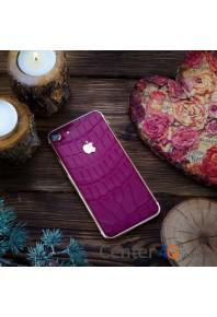 Iphone 7 128gb розовая кожа крокодила