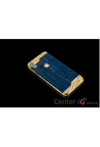 Iphone Blue Wooden Ornate Aristocrat X