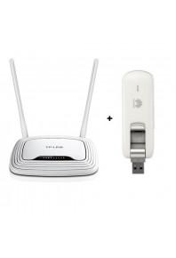 Комплект TP-Link TL-WR842N Wi-Fi Роутер + 3G 4G GSM LTE модем Huawei E3276
