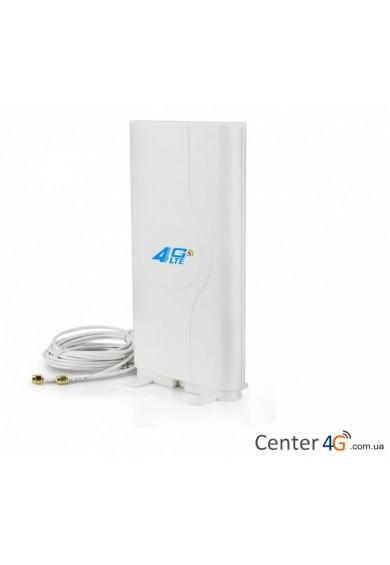 Купить 3G 4G панельная MIMO антенна Премиум PM4G CRC9 SMA Lifecell Kyivstar Vodafone