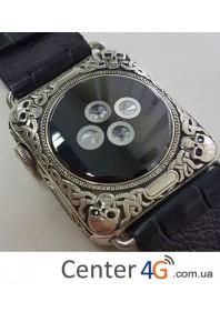 Apple Watch series 2 золото 18k, гравировка череп