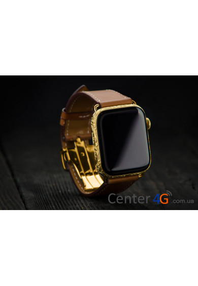 Купить Apple Watch 4 Hermes 44mm Fauve Barenia Deployment