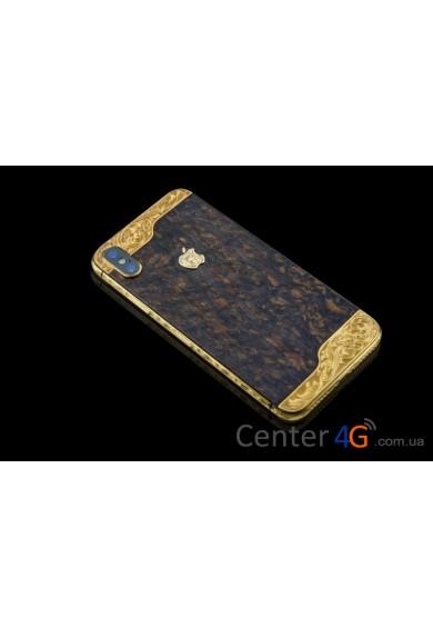 Купить Iphone Brown Wooden Ornate Aristocrat X